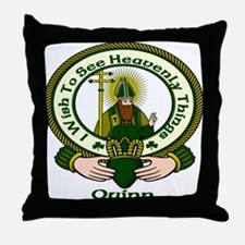 Quinn Clan Motto Throw Pillow