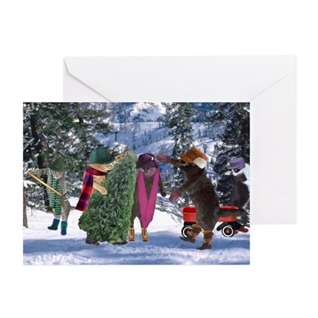 Cats Getting Tree Greeting Cards (Pk of 10)