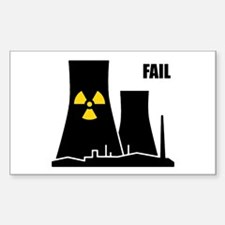 Nuclear Reactor FAIL Sticker (Rectangle)