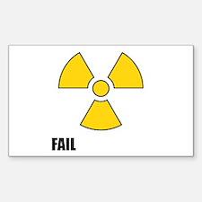 Nuclear Symbol FAIL Decal
