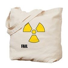 Nuclear Symbol FAIL Tote Bag