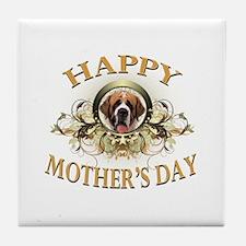 Happy Mother's Day St. Bernard Tile Coaster