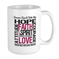 HeadNeckCancer Can't TakeHope Mug