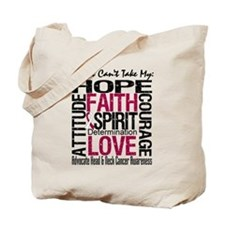 HeadNeckCancer Can't TakeHope Tote Bag