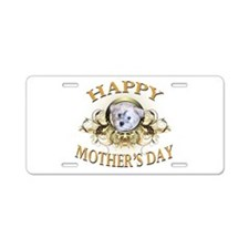 Happy Mother's Day Schnoodle Aluminum License Plat