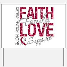 Head Neck Cancer Faith Yard Sign