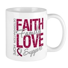 Head Neck Cancer Faith Mug
