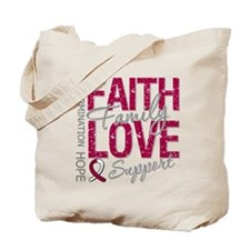 Head Neck Cancer Faith Tote Bag