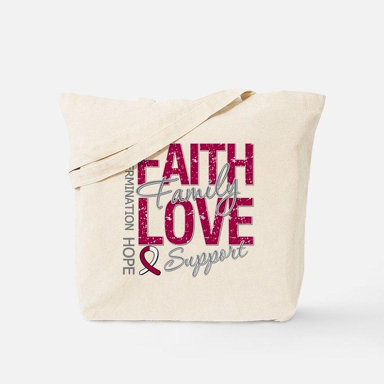 Head Neck Cancer Faith Tote Bag