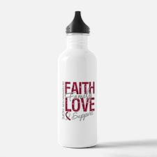 Head Neck Cancer Faith Water Bottle