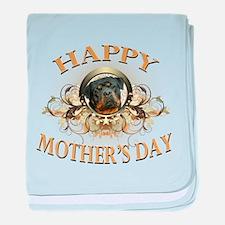 Happy Mother's Day Rottweiler3 baby blanket