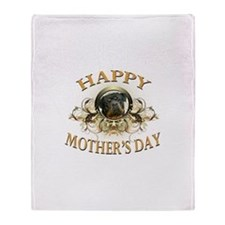 Happy Mother's Day Rottweiler3 Throw Blanket