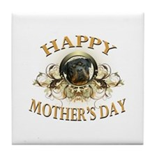 Happy Mother's Day Rottweiler3 Tile Coaster