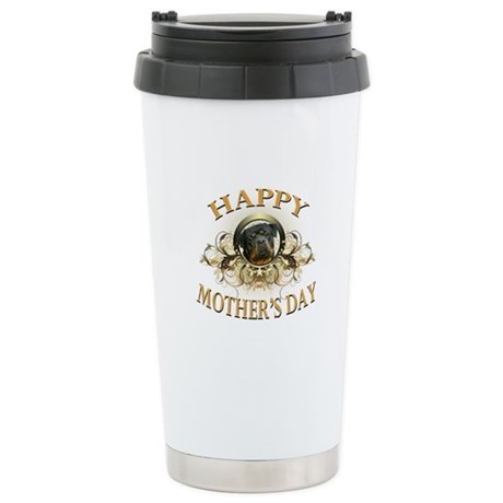 Happy Mother's Day Rottweiler3 Stainless Steel Tra