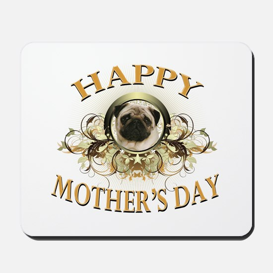 Happy Mother's Day Pug Mousepad