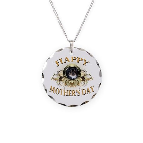 Happy Mother's Day Pekingese Necklace Circle Charm