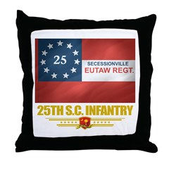 25th SC Infantry Throw Pillow
