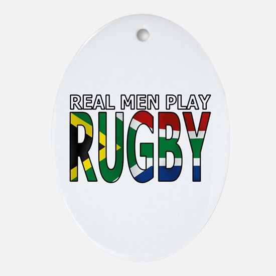 Real Men Rugby South Africa Ornament (Oval)