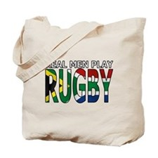 Real Men Rugby South Africa Tote Bag
