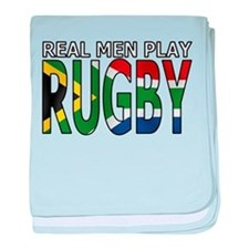 Real Men Rugby South Africa baby blanket