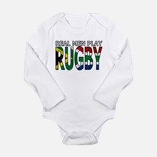 Real Men Rugby South Africa Long Sleeve Infant Bod