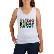 Real Men Rugby South Africa Women's Tank Top