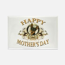 Happy Mother's Day Min Pin Rectangle Magnet