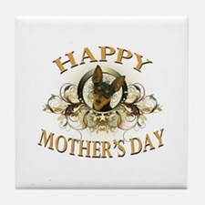 Happy Mother's Day Min Pin Tile Coaster