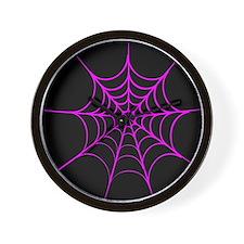 Funny Spiderweb Wall Clock