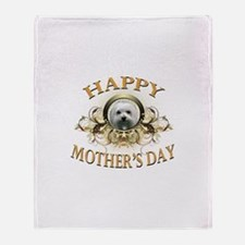Happy Mother's Day Maltese Throw Blanket