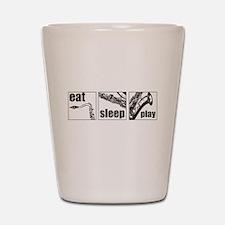 Eat Sleep Play Sax Shot Glass