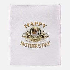 Happy Mother's Day Jack Russell Throw Blanket