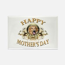 Happy Mother's Day Golden Retriever Rectangle Magn