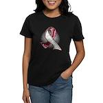 Head Neck Cancer Slogans Women's Dark T-Shirt
