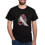 Head Neck Cancer Slogans Dark T-Shirt