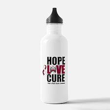 Head Neck Cancer Hope Water Bottle