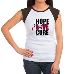 Head Neck Cancer Hope Women's Cap Sleeve T-Shirt