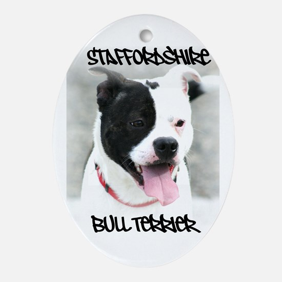 Staffordshire Bull Terrier Ornament (Oval)