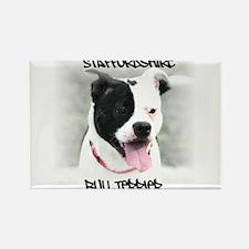 Staffordshire Bull Terrier Rectangle Magnet (10 pa
