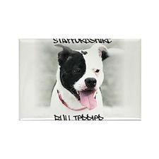 Staffordshire Bull Terrier Rectangle Magnet