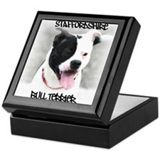 Staffordshire Bull Terrier Keepsake Box