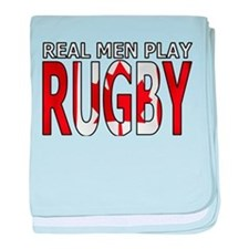 Real Men Rugby Canada baby blanket