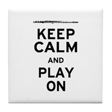 Keep Calm Flute Tile Coaster
