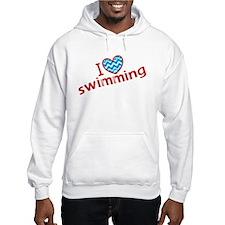 I heart (love) Swimming Hoodie