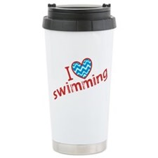 I Heart (love) Swimming Travel Mug