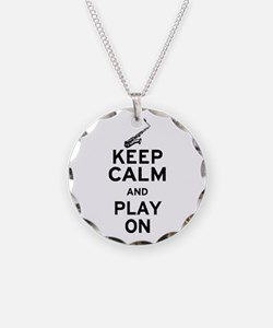 Keep Calm and Play On (Sax) Necklace