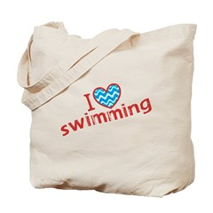 I heart (love) Swimming Tote Bag