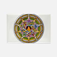 Beltane Pentacle Rectangle Magnet