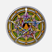 Beltane Pentacle Ornament (Round)