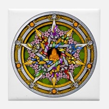 Beltane Pentacle Tile Coaster